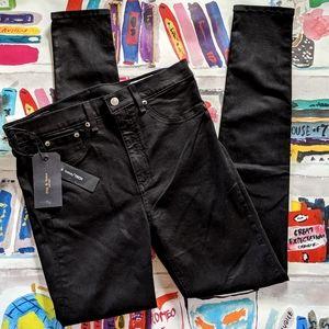 NWT Rag & Bone Tech Black High Rise Skinny Jeans